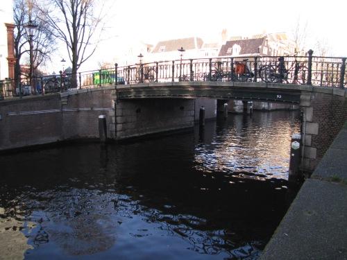 Dutch health care. A bridge in Amsterdam